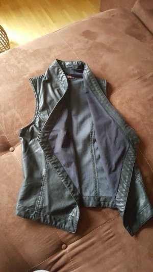 Just Fab Leather Vest black