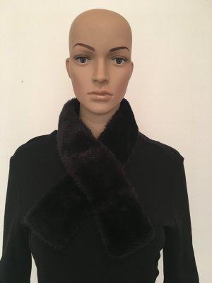 Cravate ascot noir fibre synthétique