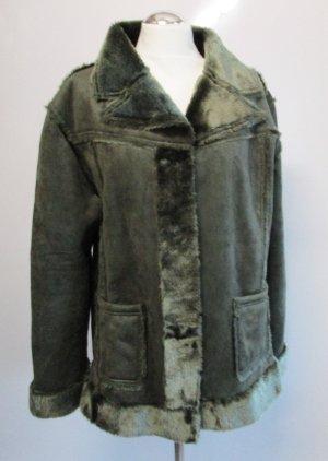 Fake Fur Coat multicolored polyester