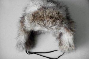 Kunstpelz Mütze mit Ohrenklappen