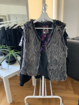 Staccato Gilet en fourrure multicolore