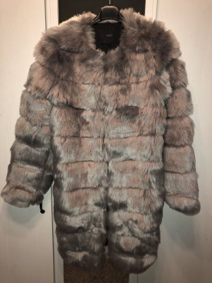 YAS Pelt Coat multicolored