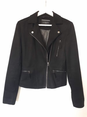 Freequent Faux Leather Jacket black polyester