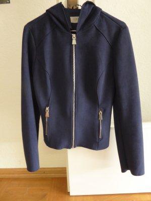 Faux Leather Jacket dark blue