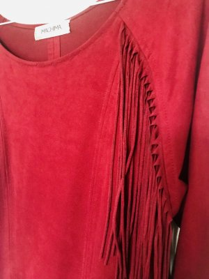 Machima Fringed Dress bordeaux