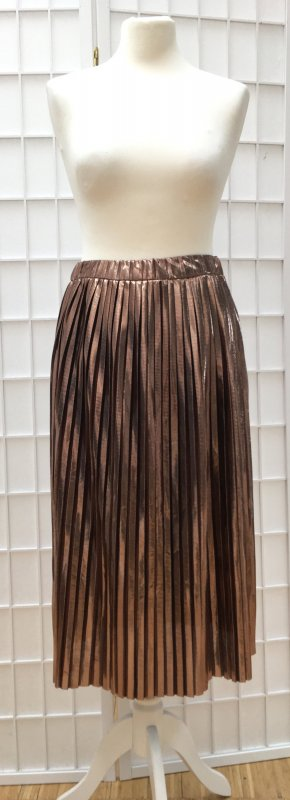 Pleated Skirt rose-gold-coloured polyester
