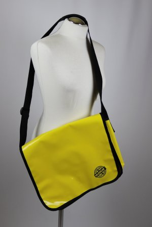 Messengerbag yellow-black synthetic material
