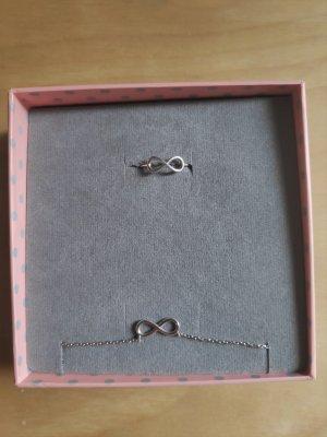 Kurshuni Set NEU - Ring + Kette Infinity 925 Silber