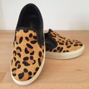 Kurt Geiger Schuhe Slipper Leo Gr. 37 Leder schwarz Sneaker