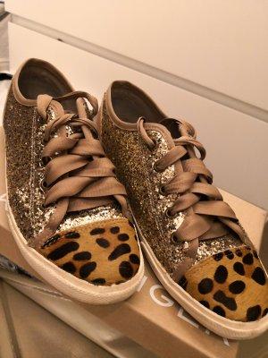 Kurt Geiger Sneaker Glitter Gold Leo Animal 38