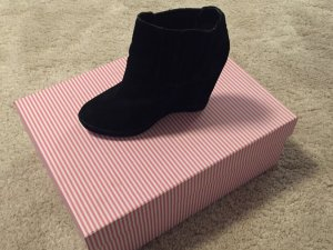 Kurt Geiger Wedge Ankle Boots Black