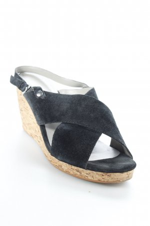 Kurt Geiger Wedges Sandaletten schwarz Paris-Look