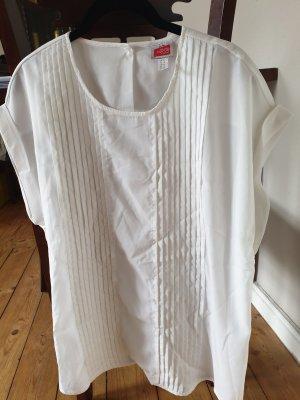 ae22c4741420c7 Kurz-Arm Business-Koffer-Bluse, weiß, Größe 42, Travel Couture