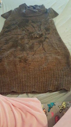 kurz armliges kleid Farbe braun Größe XL