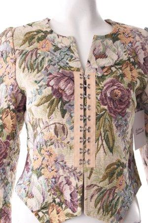 Kurz-Blazer Blumenmuster