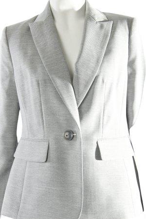 Blazer corto gris diseño de espiga estilo sencillo