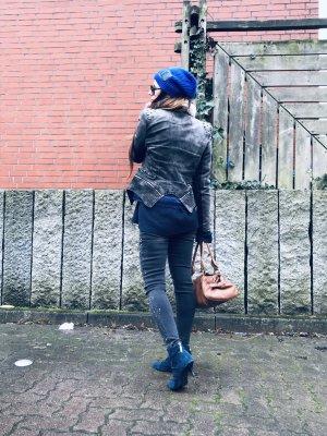 Kurz-Blazer grau-silberfarben extravaganter Stil
