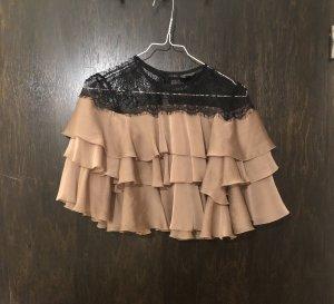 Topshop Kanten blouse roségoud-zwart