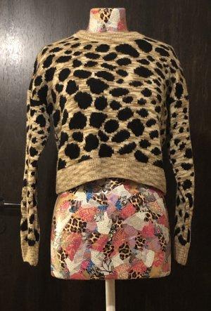 Kurz geschnittener Pullover in Leopardenoptik von Topshop