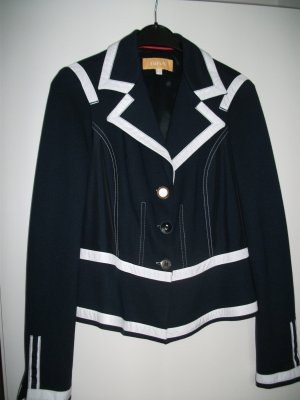 Biba Short Jacket dark blue-white viscose
