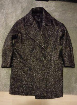 Kurz Mantel Grau meliert, Gr. 38