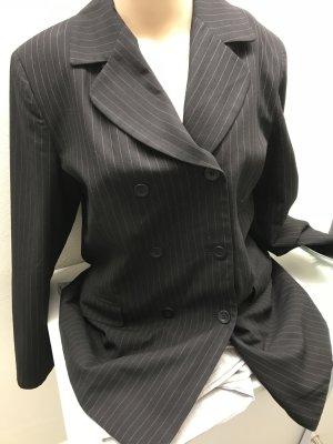 Vero Moda Lange blazer zwart-donkergrijs