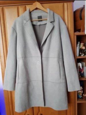 Manteau court gris clair