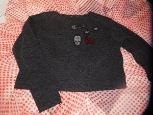 KURZ-Pullover mit glänzenden Applikationen