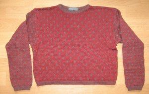 Tandem Kraagloze sweater groen-grijs-roodbruin