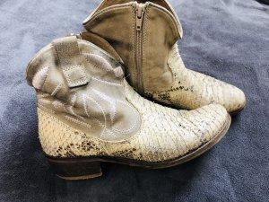 Manas Botas bajas crema-beige Cuero