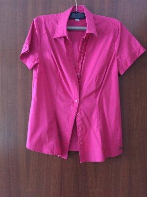 kurzärmelige Bluse in pink