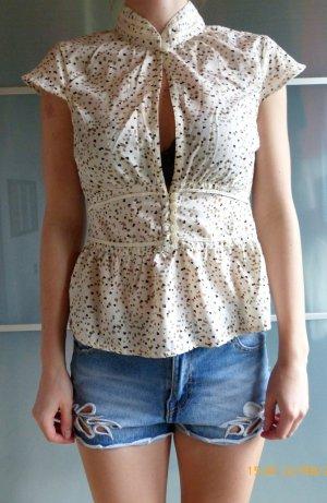 kurzärmelige Bluse von Vero Moda Größe S mit Herz-Muster