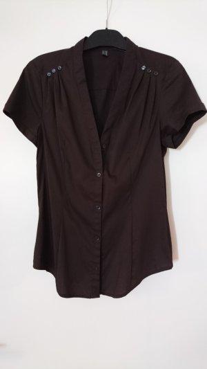 Kurzärmelige braune Bluse von Esprit