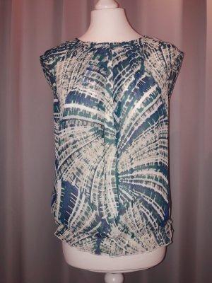 Kurzärmelige Gemusterte Bluse