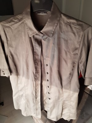 Kurzärmelige graugrüne Bluse von Eterna Premium, Größe 38, NEU