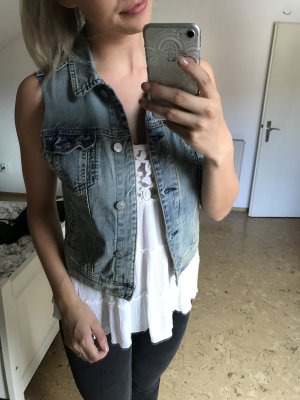 Kurzärmelige Jeansjacke