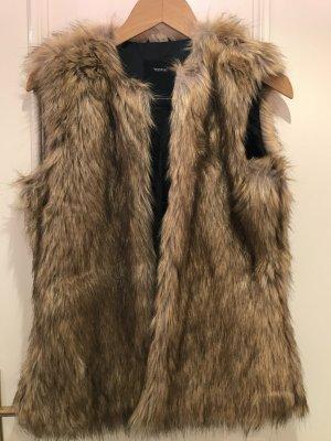 kurzärmelige Kunstfelljacke / Fake Fur
