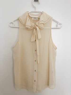 Pins and Needles Tie-neck Blouse natural white polyester