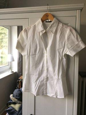 Kurzärmelige weiße Bluse