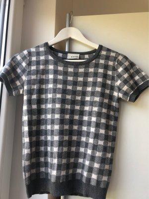 Rodier Jersey de manga corta blanco-gris Algodón