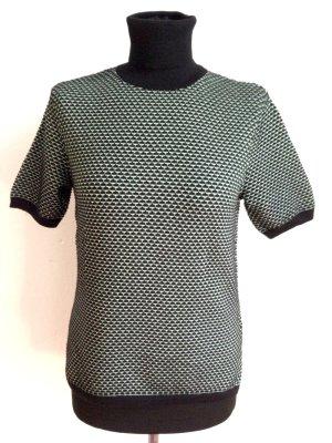 Kurzärmeliger Rolli mit grafischem Muster von Zara, Gr.M (38) aus Baumwolle