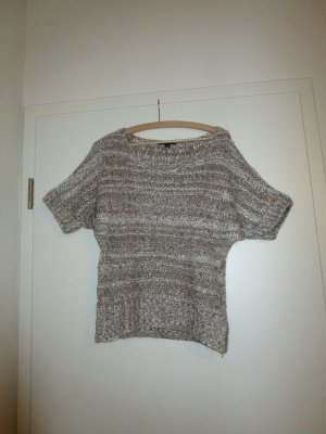 Kurzärmeliger Strickpullover in Metallic-Look