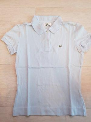 Kurzärmeliges Polo-Shirt von Lacoste in hellblau, Größe 38, neuwertig