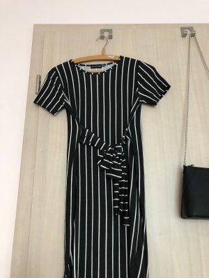 Vestido estilo camisa negro-blanco