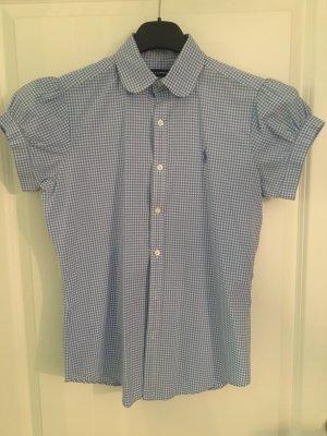 Polo Ralph Lauren Short Sleeved Blouse white-blue