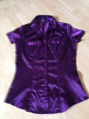 Kurzärmlige Bluse in violett