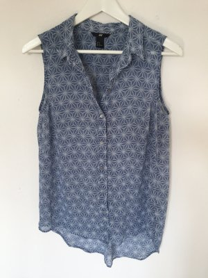 kurzärmlige Bluse mit Muster