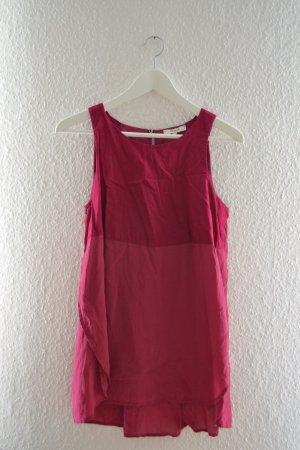 Kurzärmlige Brombeer Bluse von Madewell