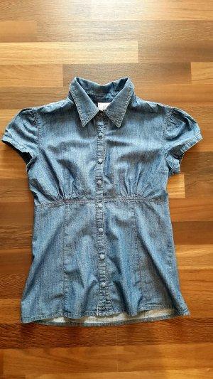 Kurzärmlige Jeans Bluse