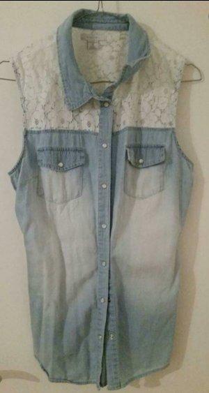 Kurzärmlige Jeansweste
